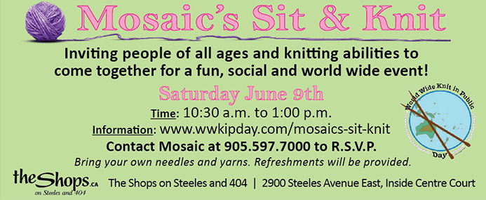 Mosaic's Sit and Knit